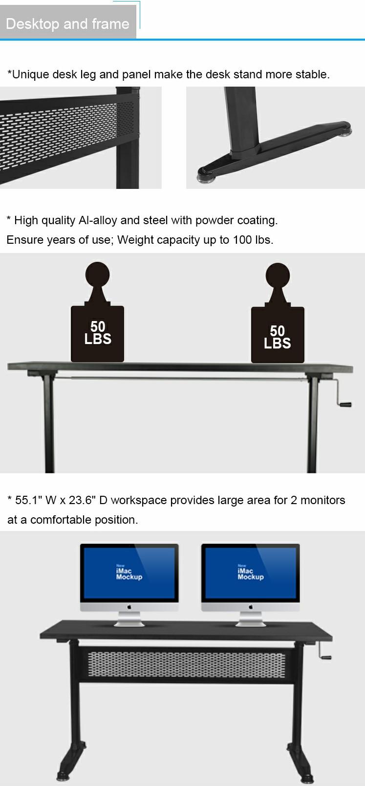 Pengcheng office furniture adjustable height desk