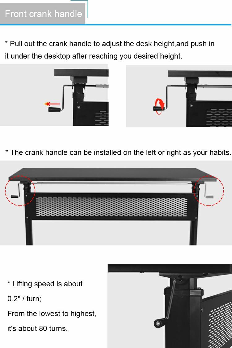 Pengcheng black ergonomic standing desk