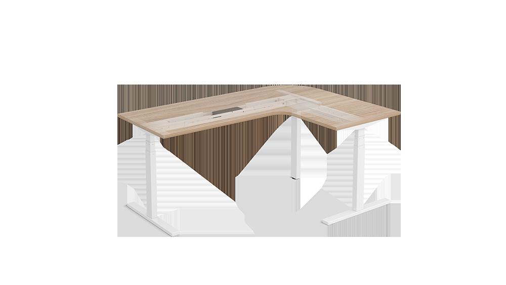 L Shape electric adjustable standing desks