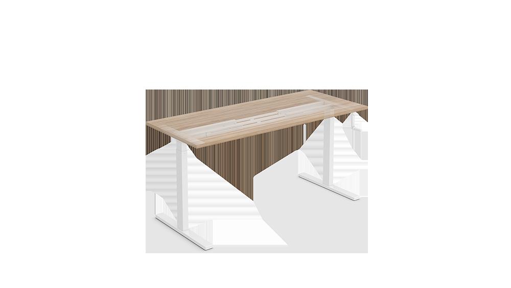 Manual crank height adjustable standing desks