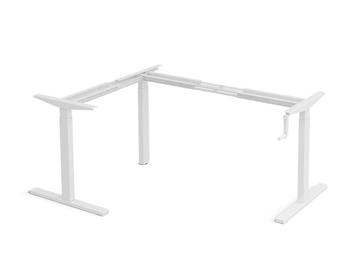 PCS-1125L Manual crank height adjustable standing desk frame