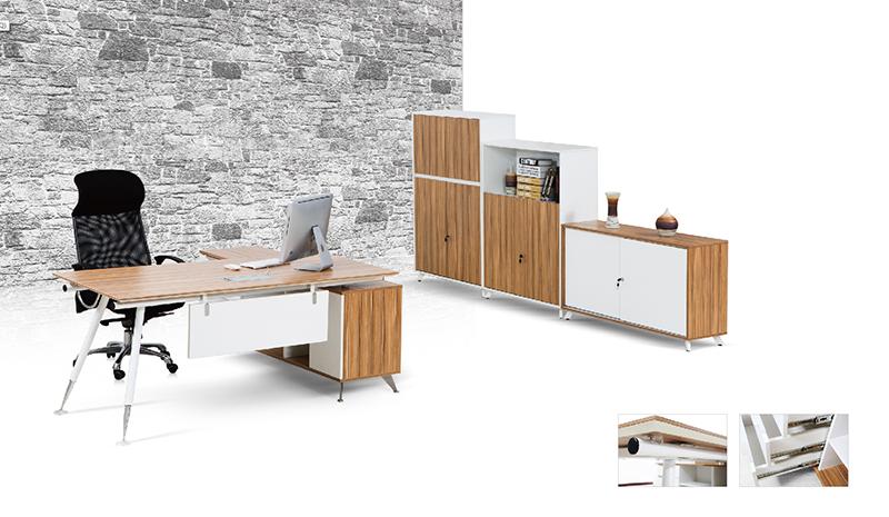 Pengcheng ED01 L Shaped corner office wooden desk
