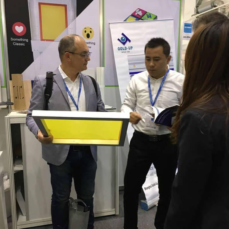 2017FESPA_screen printing pre-stretched frame